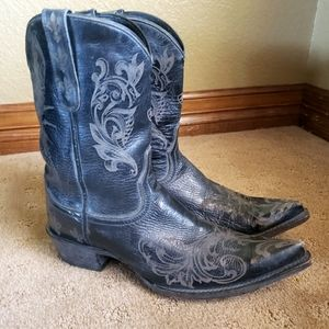 Ariat Pegosa Laser Engraved Boots Womens Size 9.5B